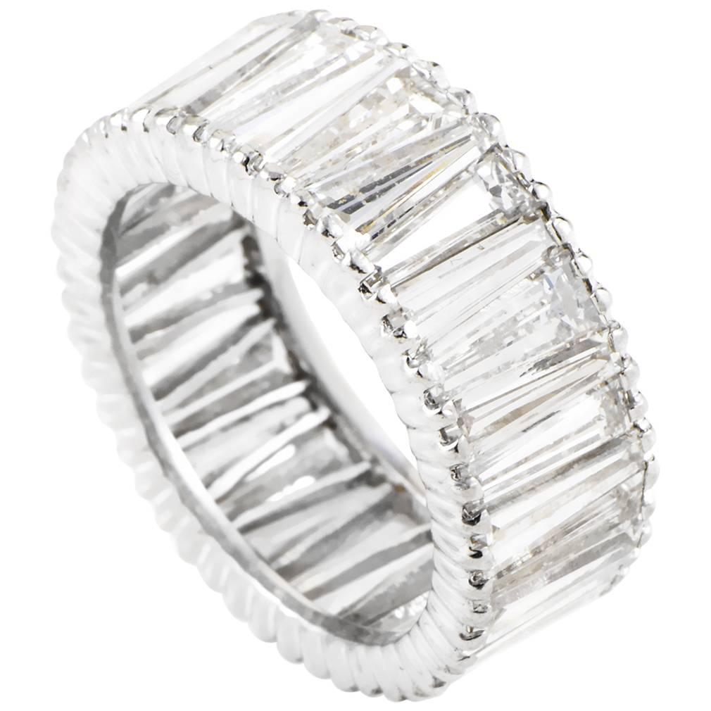 cp diamond two band bands baguettes set rounds and platinum baguette round eternity node
