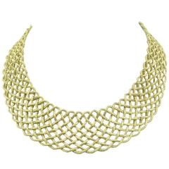 Buccellati Gold Crepe de Chine Necklace