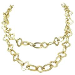 Van Cleef & Arpels Gold Byzantine Alhambra Long Chain Necklace