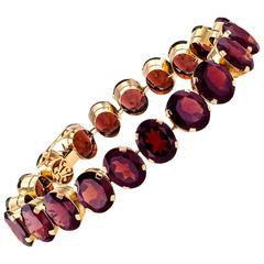 1940s Retro Garnet Line Bracelet