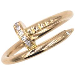 Cartier Juste Un Clou Diamond Gold Ring