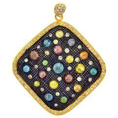 Color Diamonds Gold Pendant