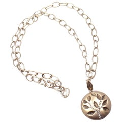 Anthony Nak Diamond Gold Tree Of Life Pendant Link Necklace
