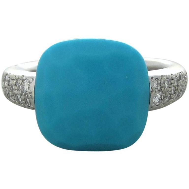 Pomellato Capri Turquoise Diamond Gold Ring