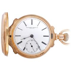 Rockford Yellow Gold Box Hinge Hunter Case Pocket Watch