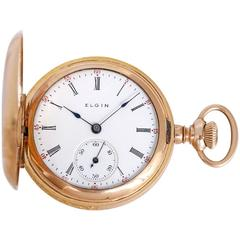 Elgin Gold Filled Hunter Case Pocket Watch