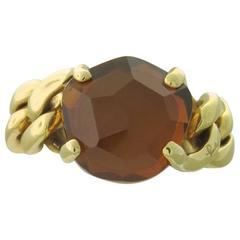 Pomellato Lola Madeira Quartz Gold Ring