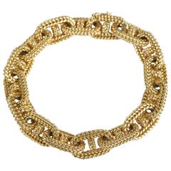 1960s Gold Chain Link Bracelet