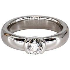 Tiffany & Co. Etoile .43 H/VVS2 Diamond Platinum Engagement Ring