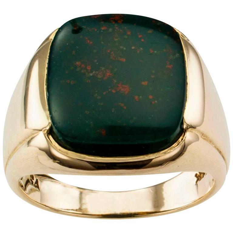 1940s Bloodstone Gentleman's Ring