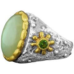 Victor Velyan Moonstone and Tourmaline Ring