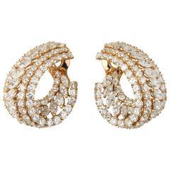 M.Gerard Diamonds Gold Earclips