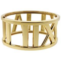 Tiffany & Co. Atlas Gold Wide Bangle Bracelet