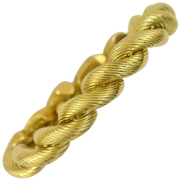 Fluted Gold San Marco Bracelet For