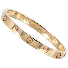 Cartier Rose Gold Love Bangle Bracelet