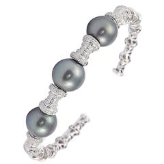 Tahitian Pearl Diamond Gold Bracelet