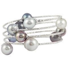 Tahitian Pearls Long Wrap Around Snake Bracelet