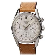 Heuer Carrera Stainless Steel Chronograph Wristwatch