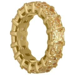 Yellow Radiant Cut Diamond Gold Wedding Band Ring