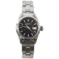 Rolex Ladies Stainless Steel Oyster Perpetual Date Automatic Wristwatch
