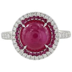 4.81 Carat Burmese Ruby Diamond Gold Ring
