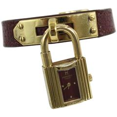 Hermes Gold Plated Kelly Watch