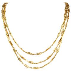 "French Antique Long Chain 64"" Long with Clasp"