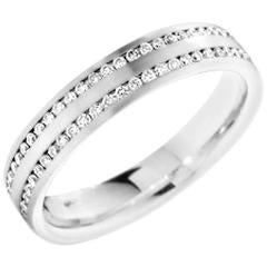 Two Row Diamonds0.56ct in 18ct White Gold Eternity / Wedding Ring