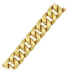 Florentine Finish Curb Link Gold Bracelet