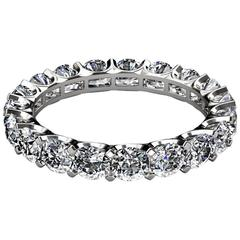 3.00 Carat Diamonds Platinum Eternity Band Ring