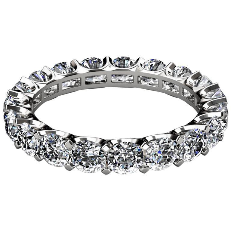 3 carats diamonds platinum eternity band ring for sale at