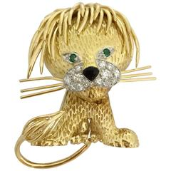 Van Cleef & Arpels Gold Lion Brooch