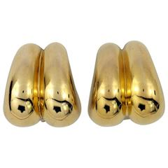Cartier Gold High Polished Earrings