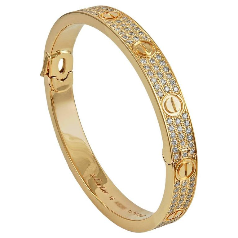 Cartier Diamond Love Bangle At 1stdibs