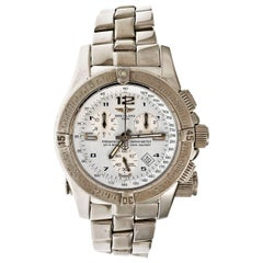 Breitling Stainless Steel Chronograph Date Emergency Beacon Wristwatch