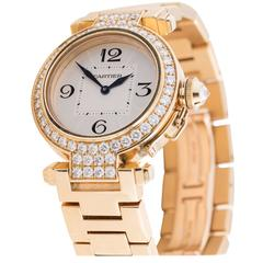 Cartier Ladies Yellow Gold Diamond Pasha Automatic Wristwatch