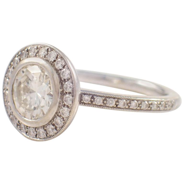 1 00 Carat GIA Cert Diamond Gold Engagement Ring at 1stdibs