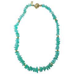 Paraiba Tourmaline Diamond Gold Necklace