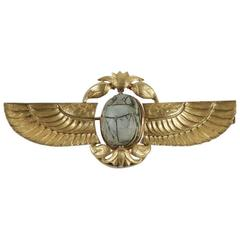 1920s Egyptian Revival Scarab Gold Brooch
