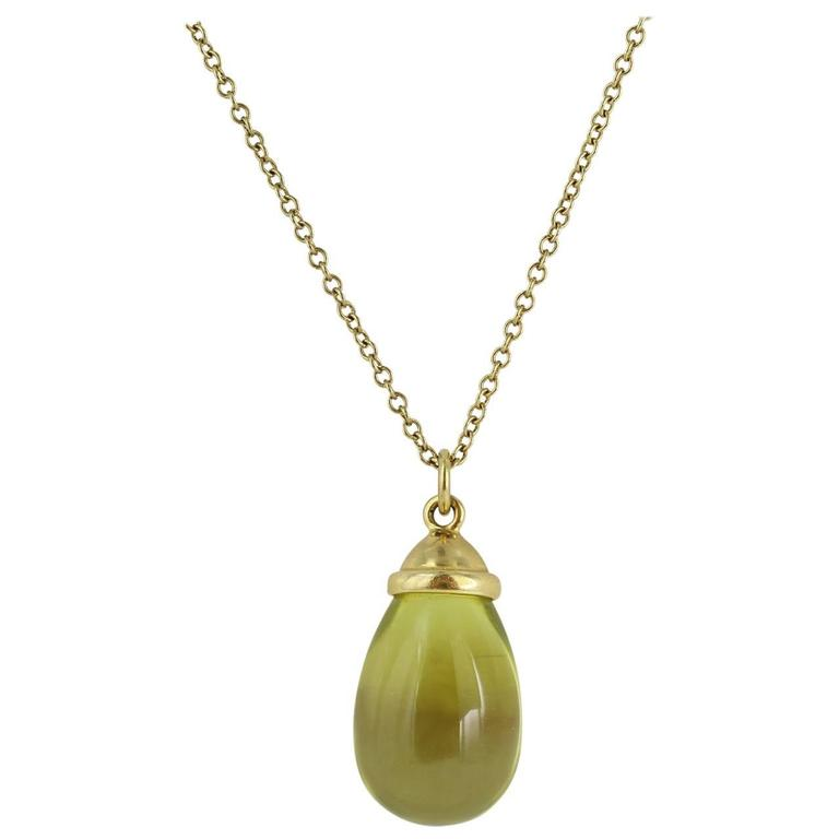 Tiffany & Co. Paloma Picasso Quartz Gold Pendant