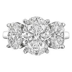 Betteridge 3.02 Carat Oval Brilliant-Cut Diamond Three-Stone Engagement Ring