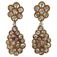 Impressive Diamond Gold Night and Day Earrings