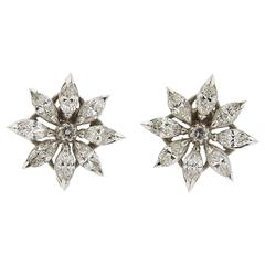 Asprey Diamond Platinum Earrings