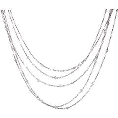 Asprey Diamond Gold Multi-Strand Necklace