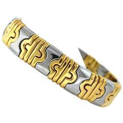 Bulgari Two Color Gold Flex Bangle Bracelet