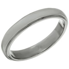 Tiffany & Co. Platinum Milgrain Men's Wedding Band Ring