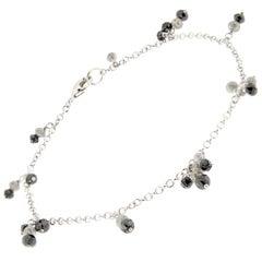Jona Black and Ice Diamond 18 Karat White Gold Bracelet