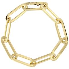 Jona Yellow Gold Link Chain Bracelet