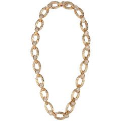 Boucheron Paris Diamond Gold Serpent Bohême Necklace