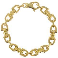 1960s French Gold Stirrup Link Bracelet